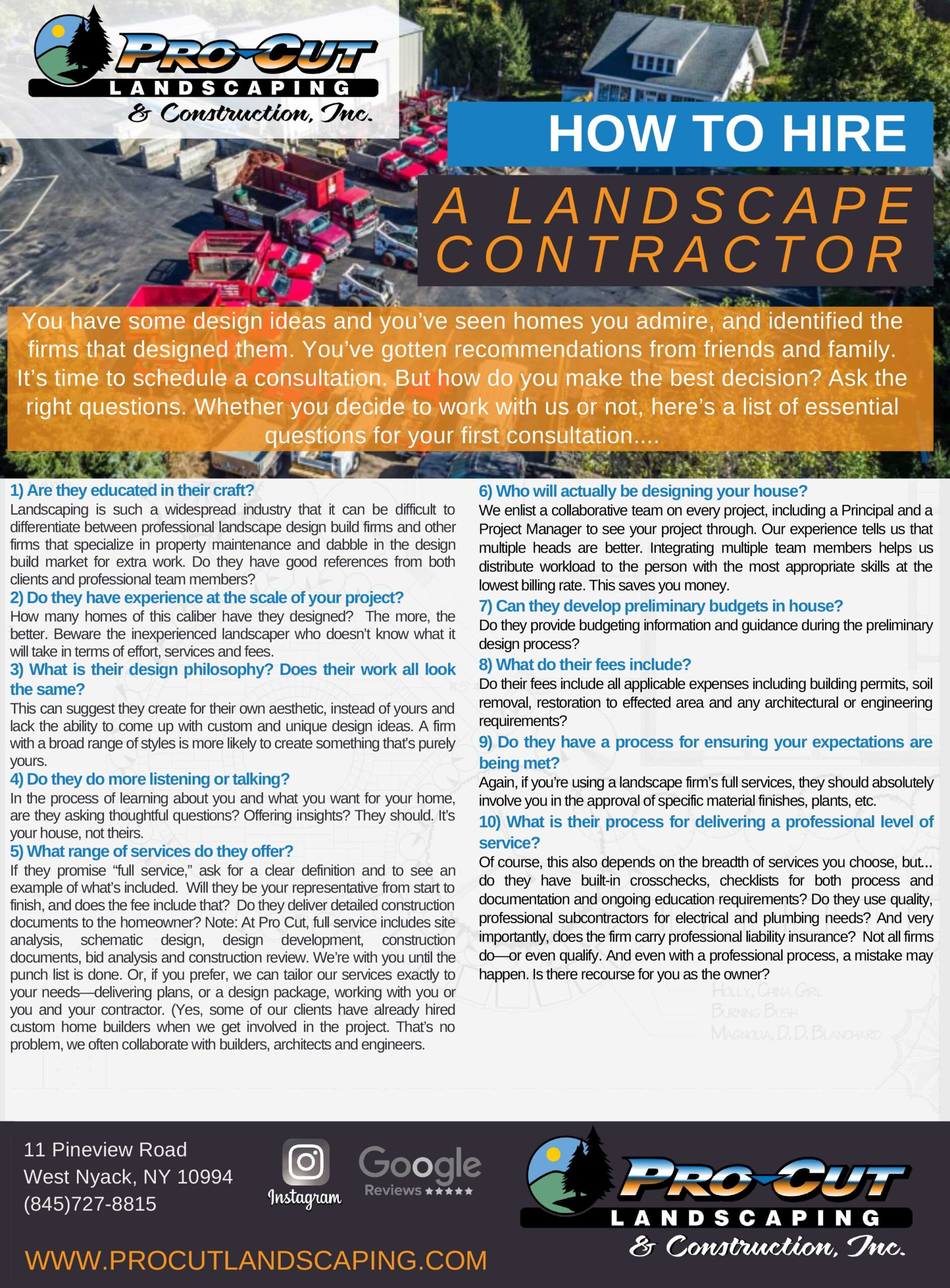 How to Hire A Landscape Contractor (PDF)
