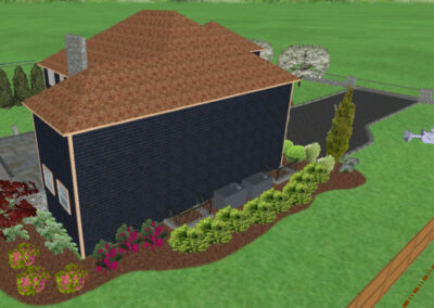 Home Landscape Design 3D Rendering