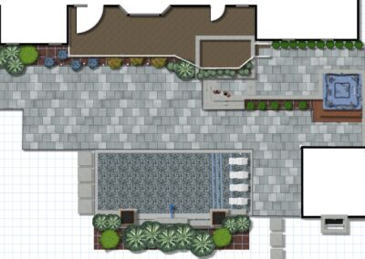 Backyard 3D Landscaping Blueprint