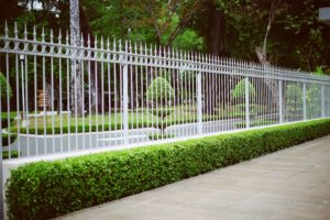 Beautiful landscape fencing at a home in Rockland NY