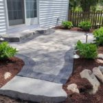A new patio and walkway paver installed in Rockland NY